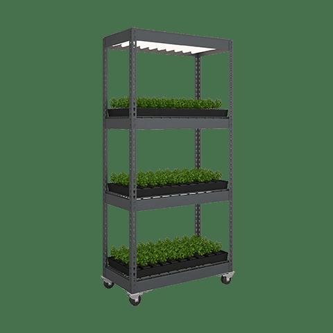 Vertical Growing Systems | LED Light Grow Rack | GrowHigher