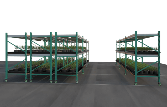 Mobile Vertical Growing Systems | Mobile Racking | GrowHigher